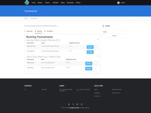 """ezleague pro """"haven"""" tournaments page"""